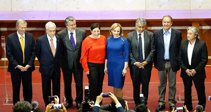 Los ocho candidatos presidenciales de Chile
