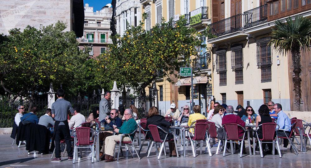 Turistas en Valencia, España