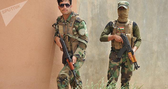 Soldados de las fuerzas del Kurdistán iraquí