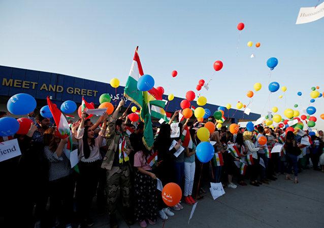 Protestas en el aeropuerto de Erbil, Irak