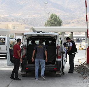 Puesto de control en la frontera entre Turquía y Irak