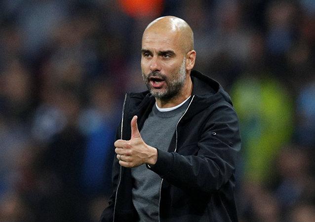 Pep Guardiola, entrenador catalán del Manchester City