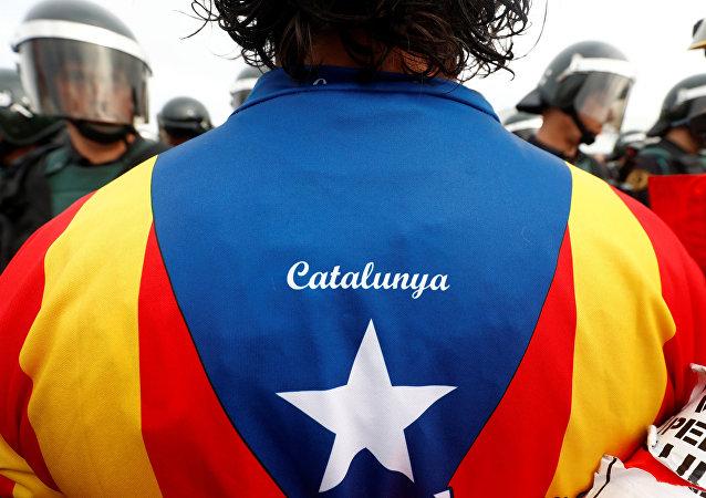 Bandera separatista de Cataluña