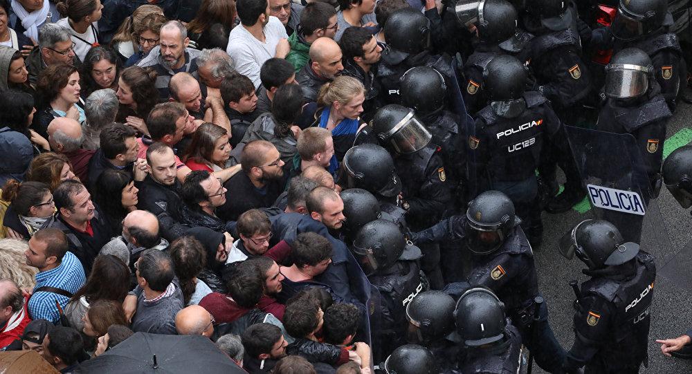 Cataluña hizo paro general y protestó contra la Policía