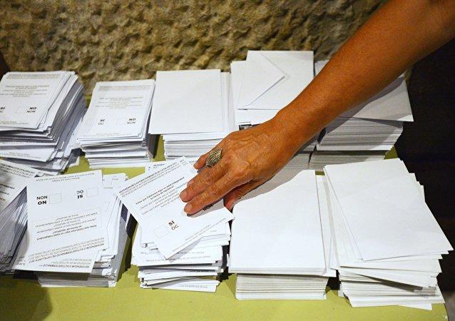 Un referéndum (imagen referencial)