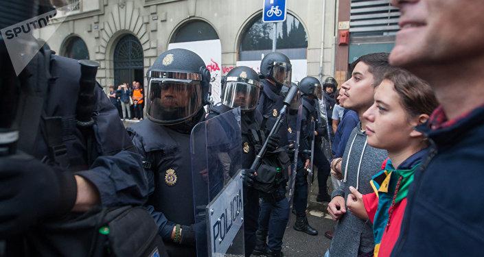 Policía Nacional española en Cataluña (archivo)