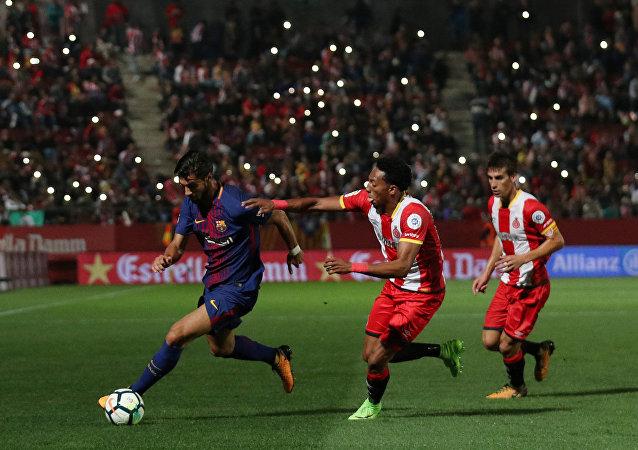 El partido entre FC Barcelon y FC Girona (archivo)