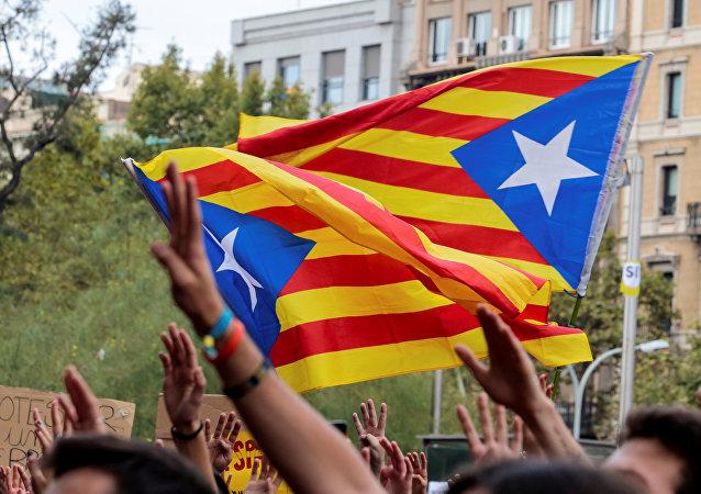 Las banderas de Cataluña (archivo)