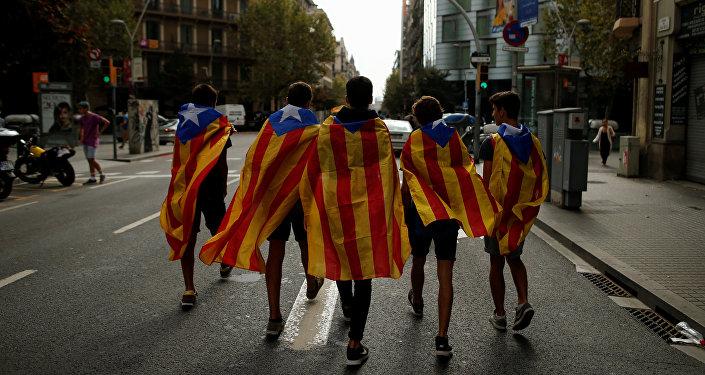 Estudiantes catalanes en Barcelona