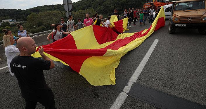 Manifestaciones por la independencia en Cataluña