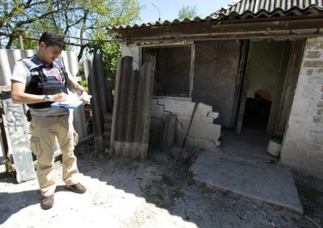Un observador de la OSCE en Donbás