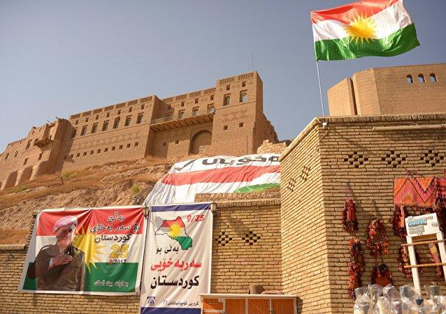 Сarteles promoviendo el referéndum de Kurdistán iraquí