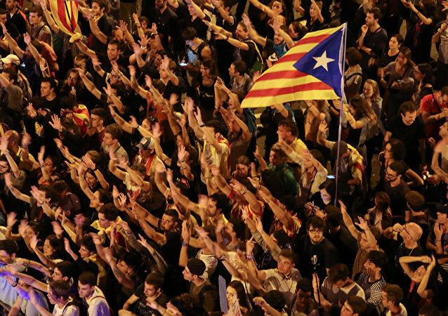 Las manifestaciones en Barcelona