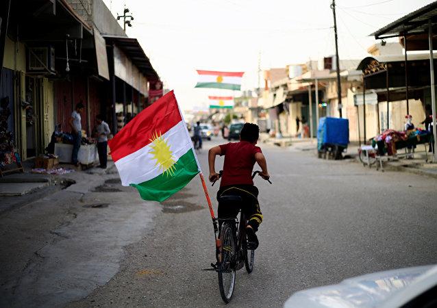 Bandera de Kurdistán iraquí