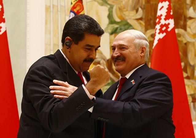 El presidente de Venezuela, Nicolás Maduro, y el presidente de Bielorrusia, Alexandr Lukashenko