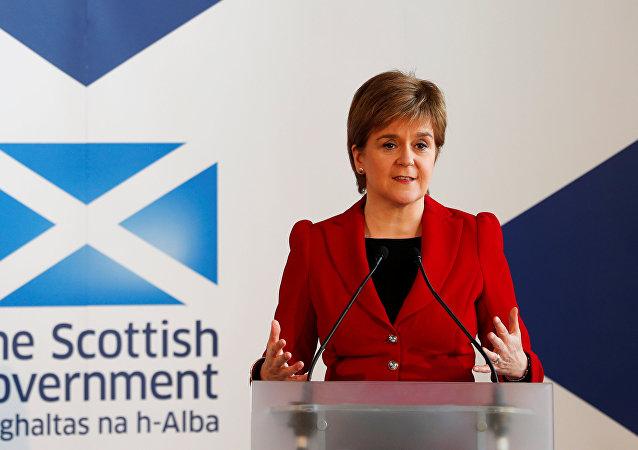 Nicola Sturgeon, la ministra principal de Escocia (archivo)