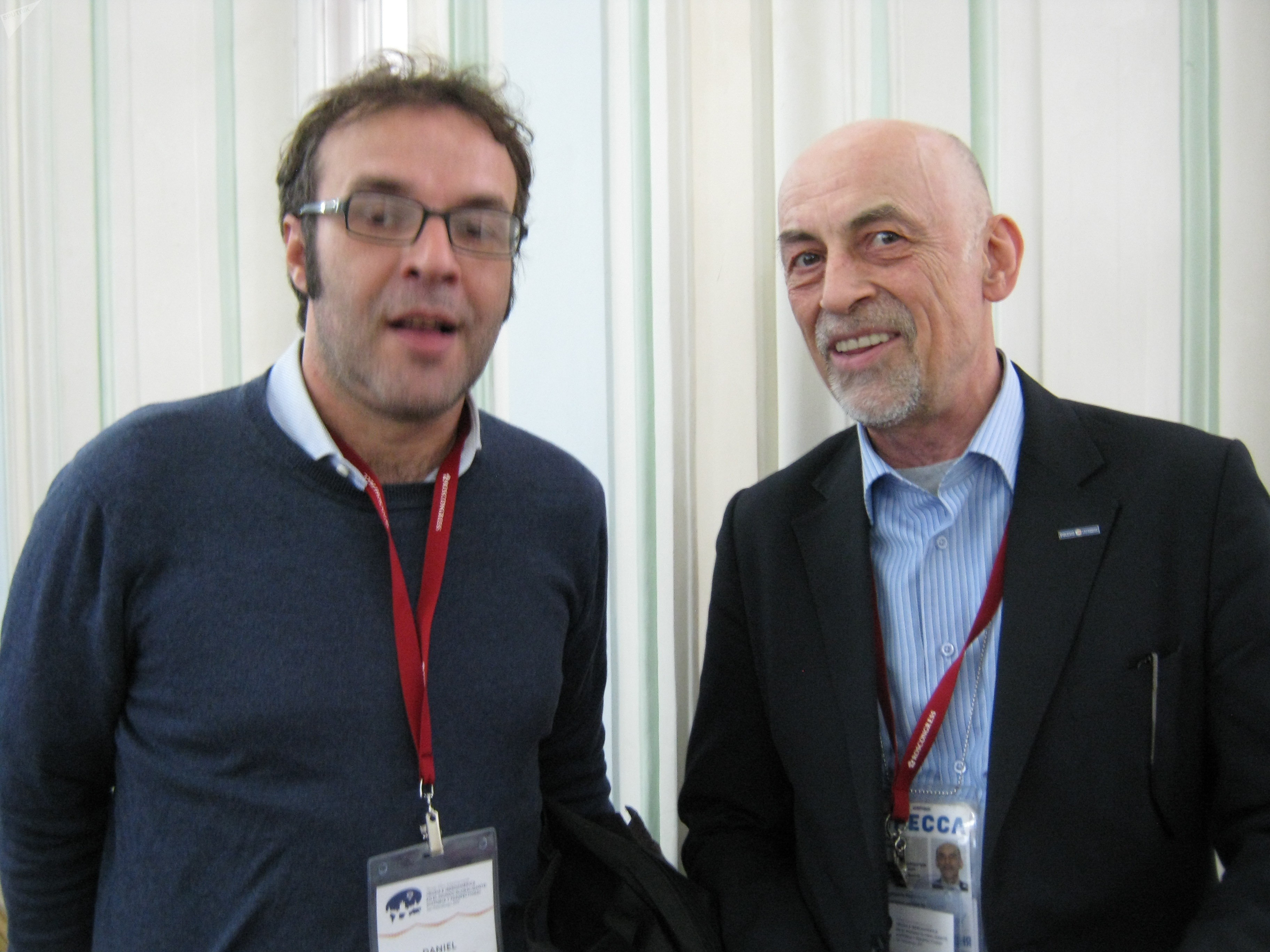 Daniel Rodríguez (iz) y Víctor Sújov (dch)