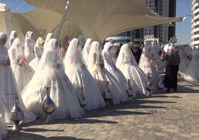Bodas masivas en Grozny