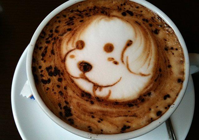 Animales en tazas de cafés