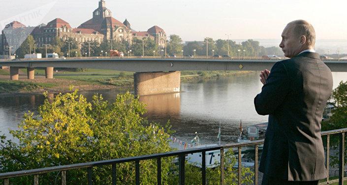 Vladímir Putin, presidente de Rusia, en Dresde, Alemania (archivo)