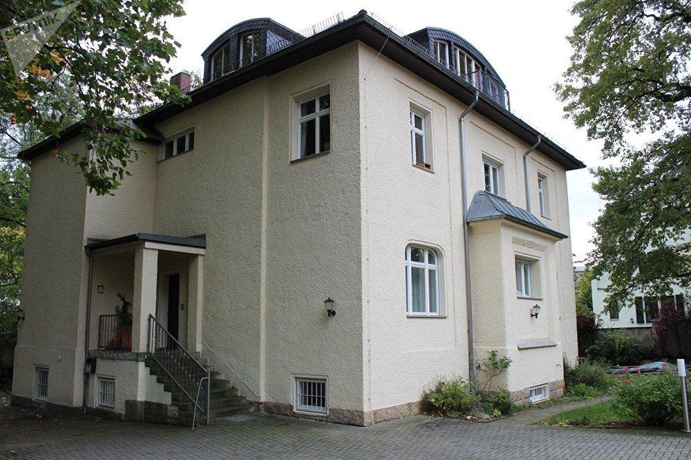 Antiguo edificio de la KGB en Dresde, el lugar de trabajo de Vladímir Putin