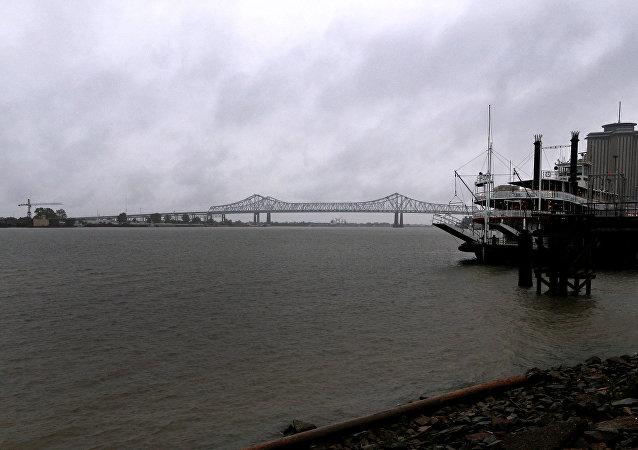 Aproximación del huracán Nate a las costas de Nueva Orleans, EEUU
