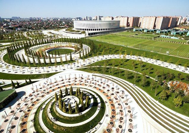 Nuevo parque de la ciudad de Krasnodar, Rusia