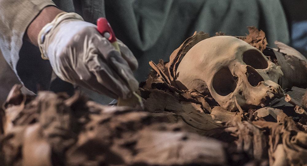 La tumba egipcia, descubierta en septiembre de 2017 (archivo)