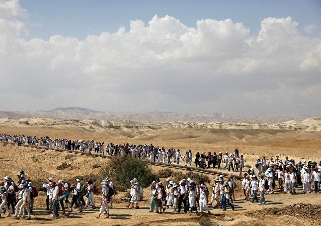 Marcha de mujeres israelíes y palestinas