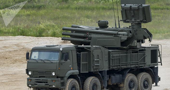 Complejo de artillería antiaérea Pantsir-S (archivo)