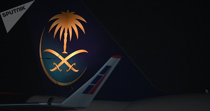 El avión del rey de Arabia Saudí, Salman bin Abdulaziz Saud, llega a Rusia