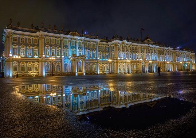 El museo Hermitage, San Petersburgo