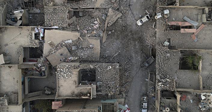 Edificios destruidos en Mosul, Irak (archivo)