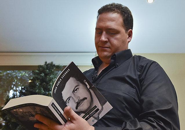 Juan Pablo Escobar, hijo del legendario capo de la droga, Pablo Escobar
