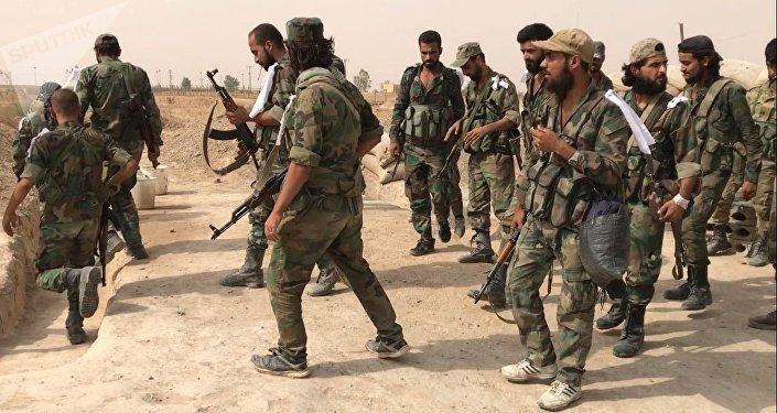 Militares del Ejército de Siria (archivo)