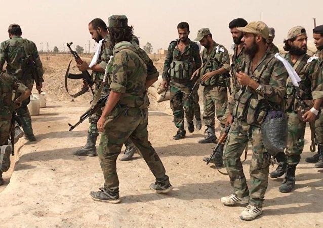 Militares del Ejército de Siria
