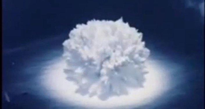 Una explosión nuclear submarina (archivo)