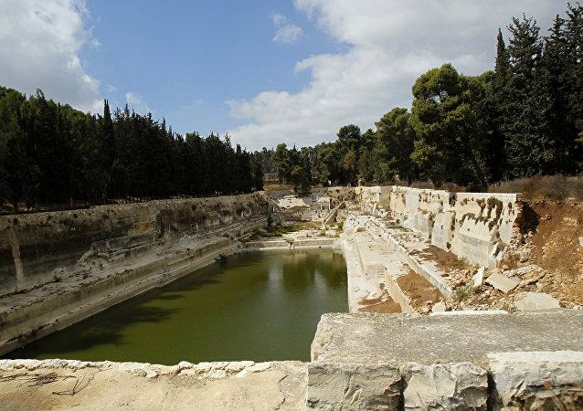 Las antiguas piscinas de Salomón, Palestina