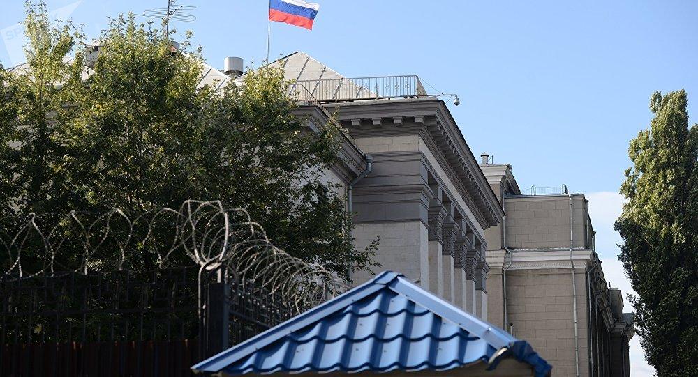 La embajada de Rusia en Kiev (archivo)
