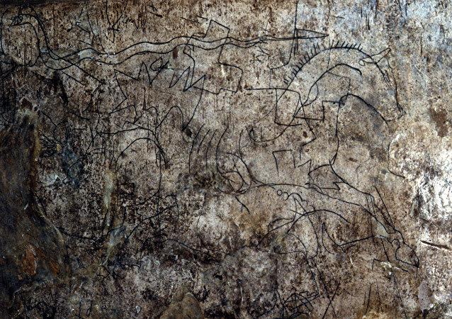 Una losa de piedra