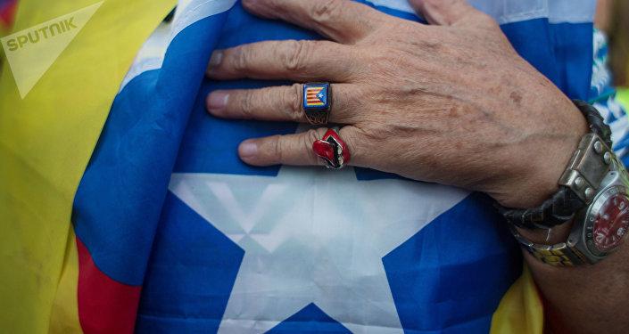 Un partidario de la independencia de Cataluña