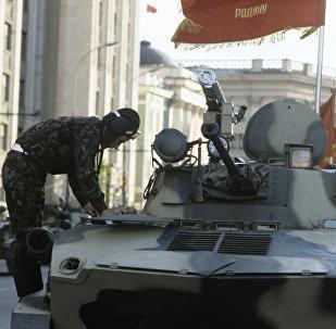 Un tanquista de la URSS