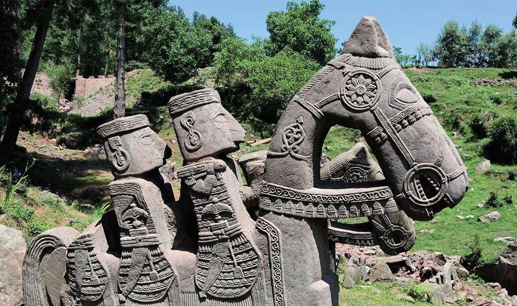 La figura de piedra encontrada en Himalaya