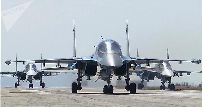 Aviones de las Fuerzas Aeroespaciales de Rusia en Siria