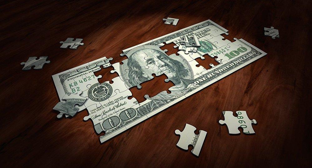 Un rompecabezas de un billete de 100 dólares