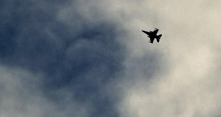 Avión militar de la coalición liderada por Estados Unidos.