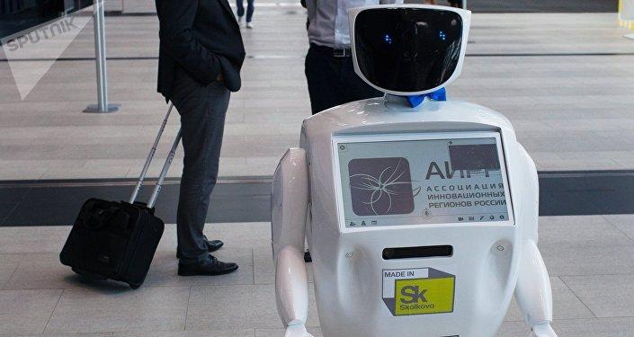 Robot Promobot en una exhibición (archivo)
