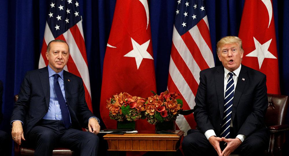 Recep Tayyip Erdogan, presidente de Turquía, y Donald Trump, presidente de EEUU