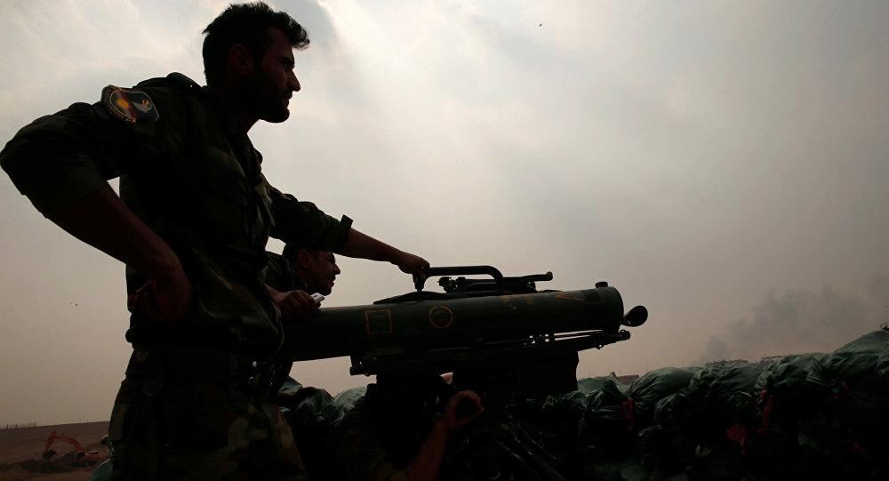 Un militar peshmerga en Mosul (archivo)