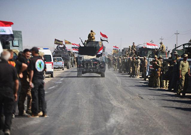 Tropas iraquíes en Kirkuk